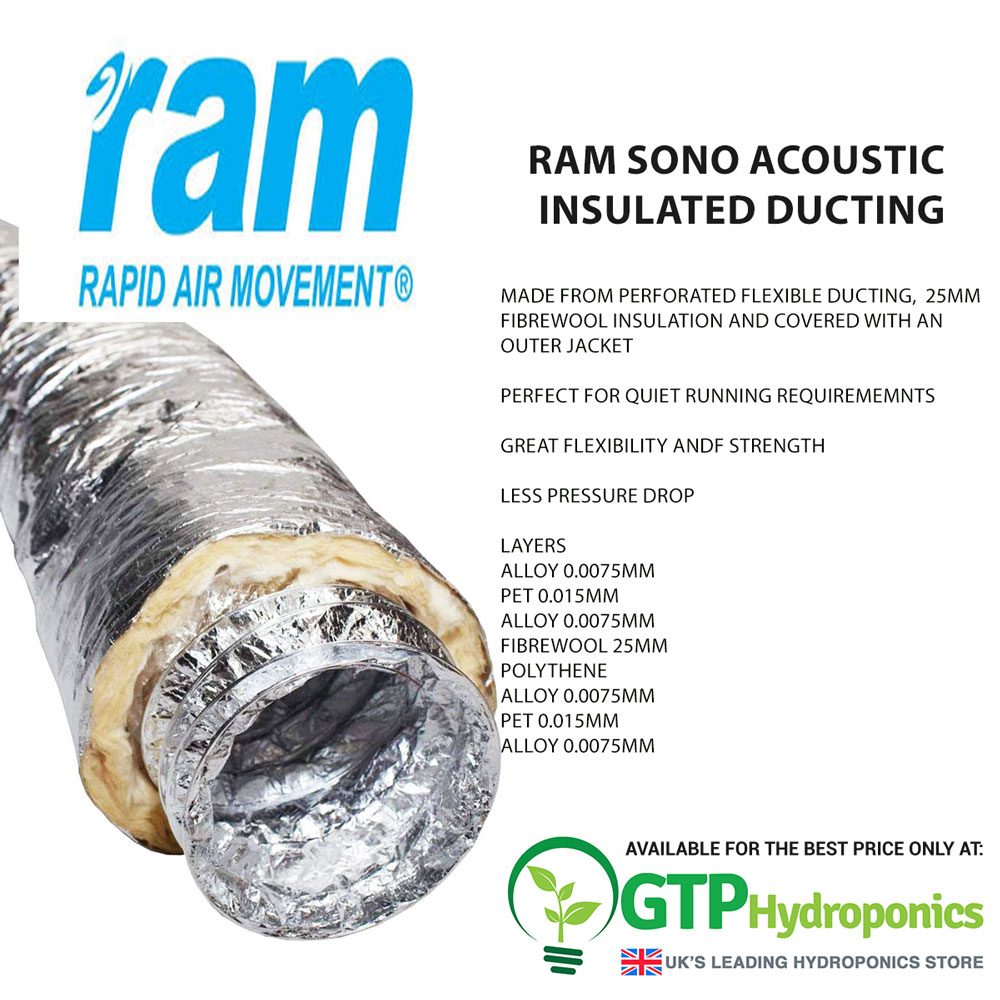 """315mm x 10m Low Noise Ducting Ram Aluduct 12/"""""""