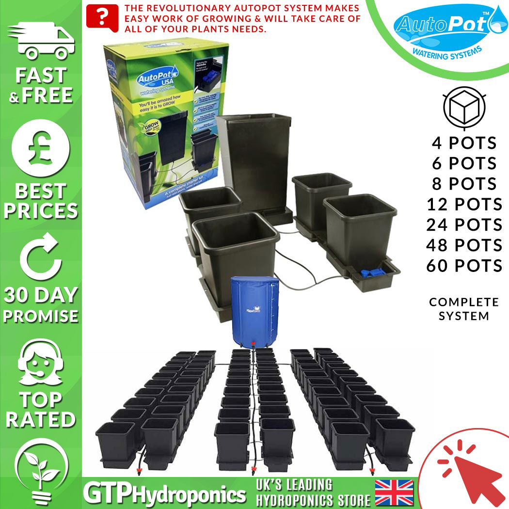 1 or 4 POT AUTOPOT EXTENSION KIT GRAVITY//BOTTOM FED HYDROPONIC GROWING SYSTEM