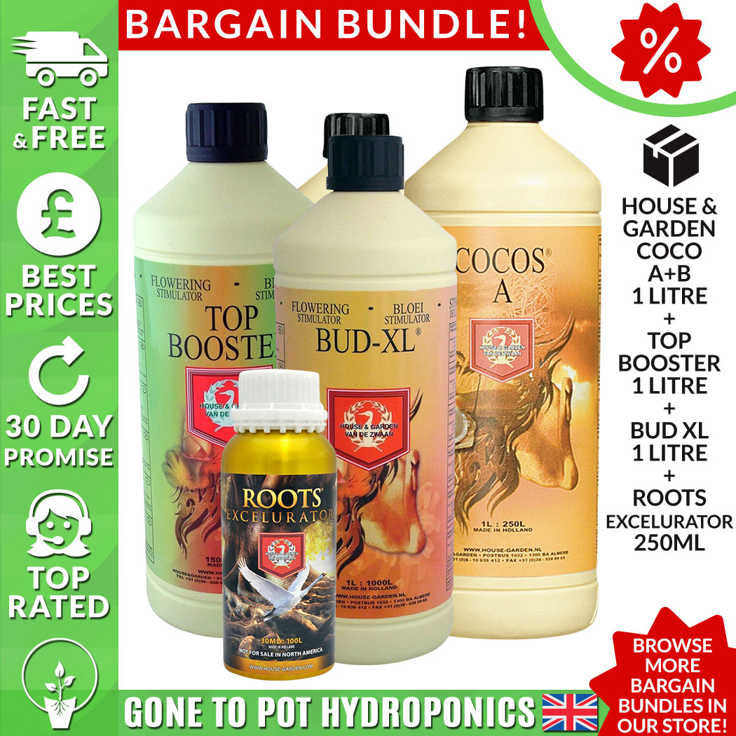 House Garden Coco Discount Bundle A B Top Boost Bud Xl 1l Roots Excel 250ml