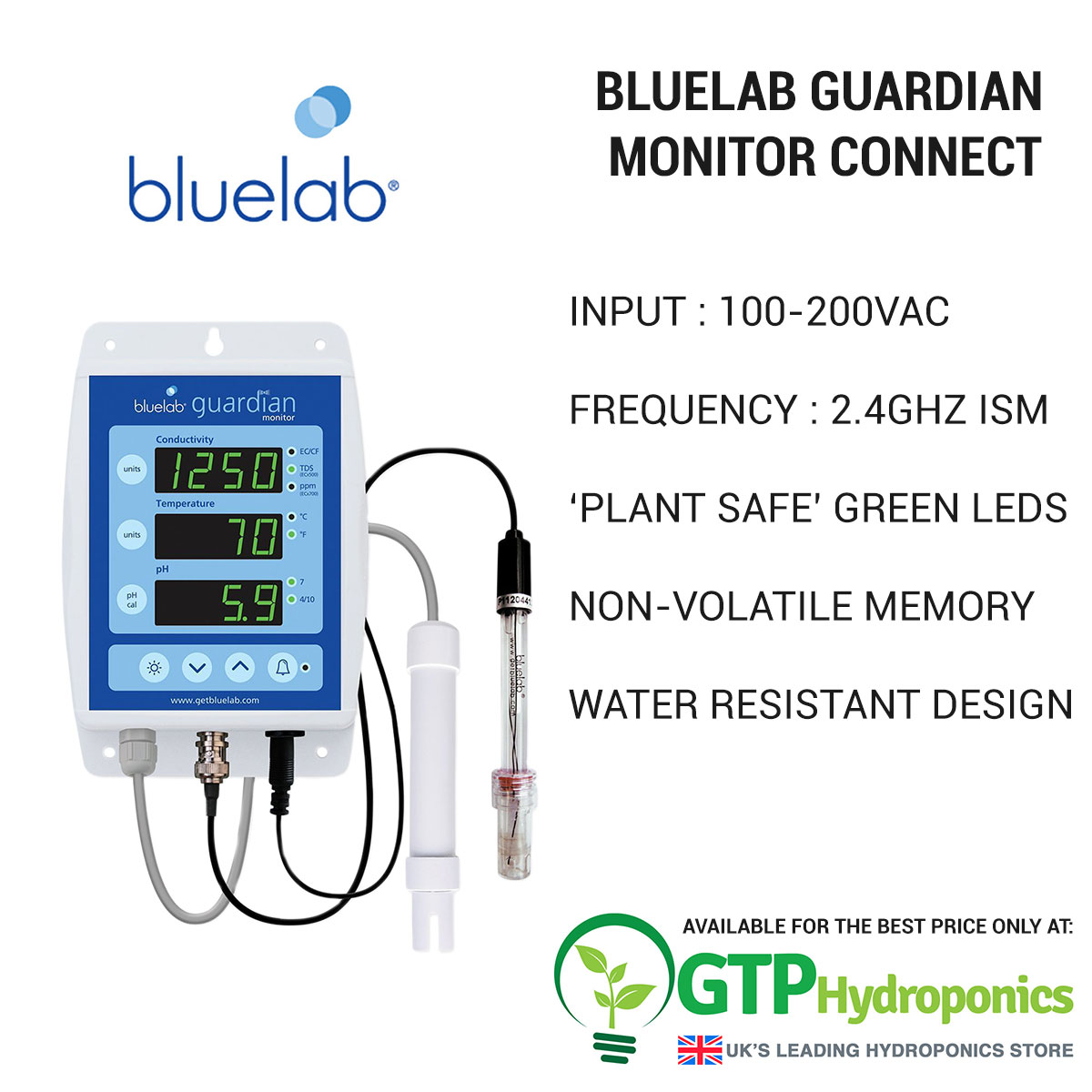 BlueLab Guardian Monitor Connect overview