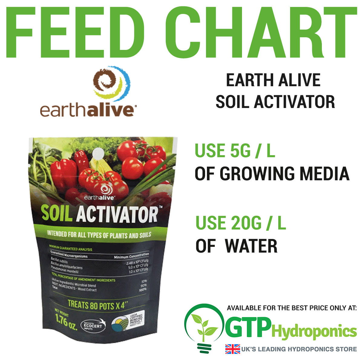 Earth Alive Soil Activator overview
