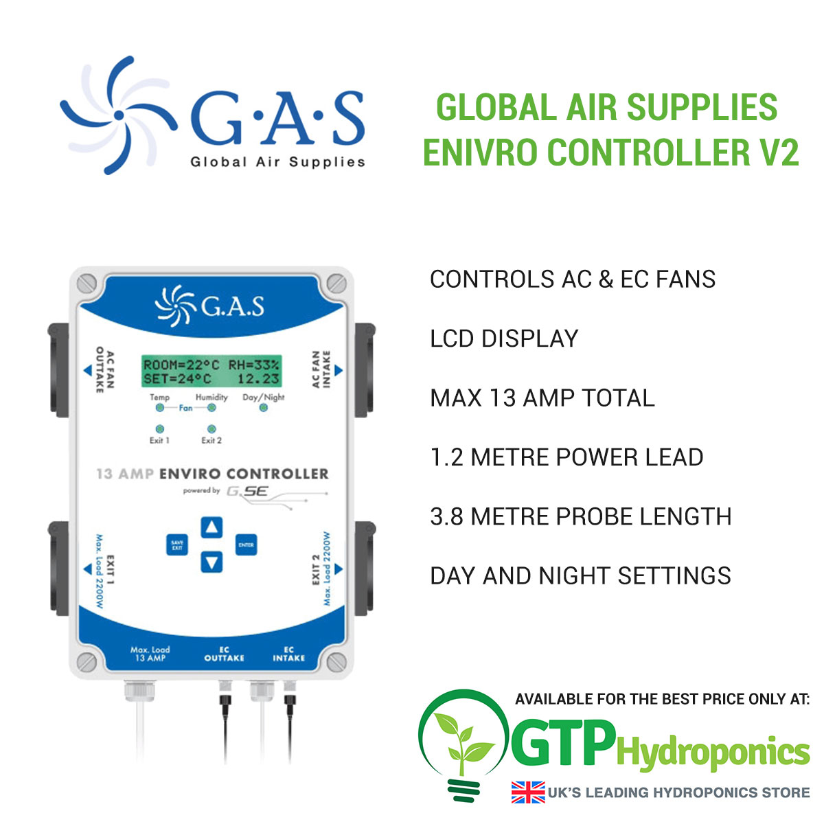 Global Air Supplies Enivro Controller V2 overview