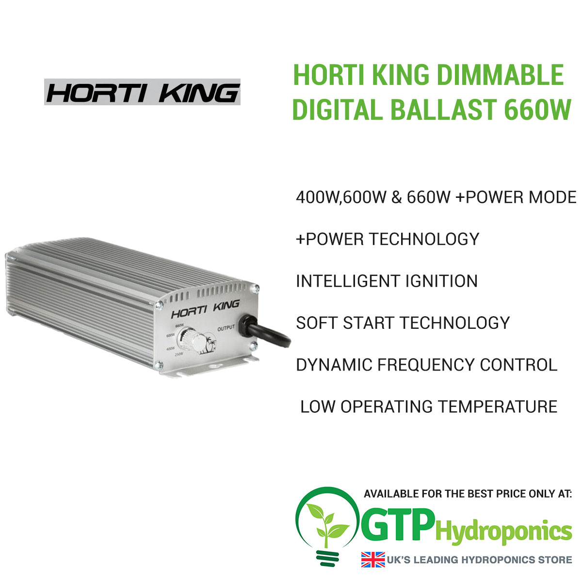 Horti King Dimmable Digital Ballast 660w overview