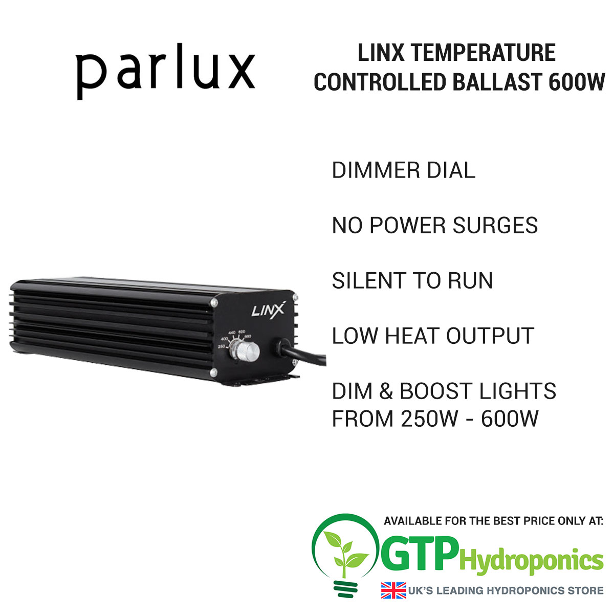 Linx Temperature Controlled Ballast 600w overview
