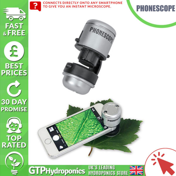 GROW ROOM MICROSCOPE FOR MOBILE DEVICE PHONESCOPE HYDROPONICS