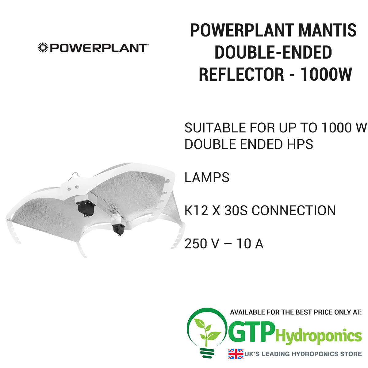 Powerplant Mantis Double-Ended Reflector - 1000w overview