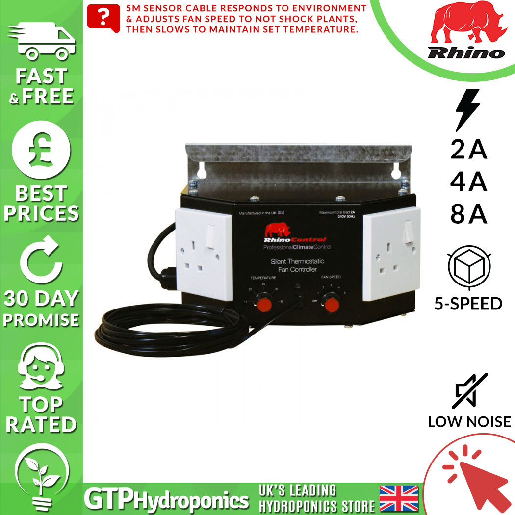 THERMOSTAT FOR GROW ROOM FREE POSTAGE TENT FAN CONTROL HYDROPONICS