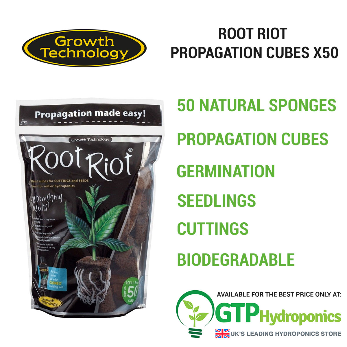 Root Riot Propagation Cubes x50 overview