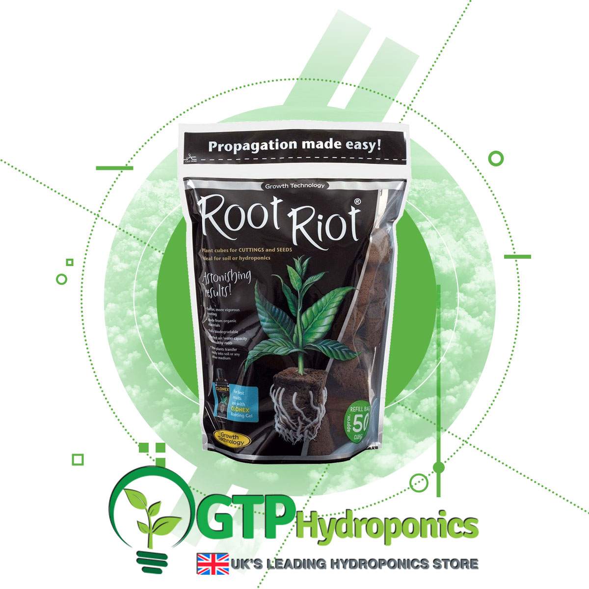 Root Riot Propagation Cubes x50 product